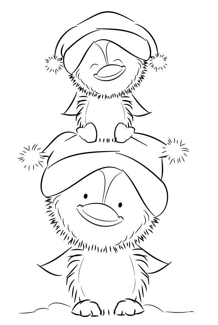ausmalbilder weihnachten pinguin  aglhk