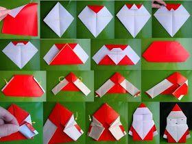 Babbo Natale origami