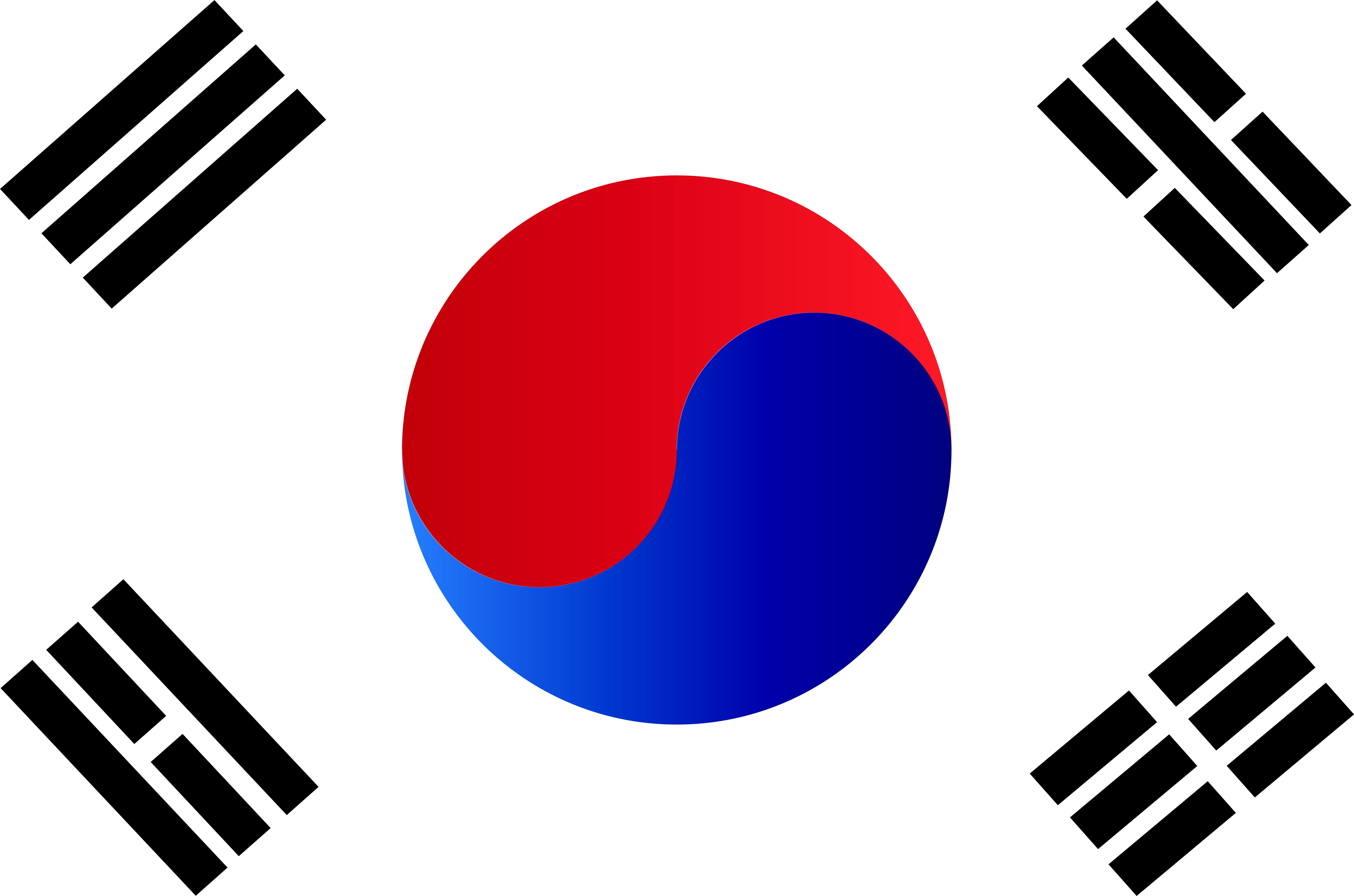 The Flag Of South Korea Also Known As The Taegukgi Has Three Parts A White Rectangular Background A Red And Blue T South Korea Flag South Korea Korean Flag