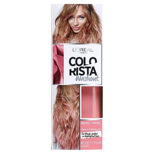 L'Oréal Paris Colorista Washout Dirty Pink Hair Colour   Superdrug