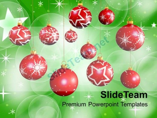 Christmas Holiday 3d Illustration Of Balls Winter Holidays Templates - winter powerpoint template