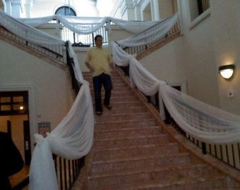 Handrail decorations wedding google search forever after handrail decorations wedding google search junglespirit Image collections