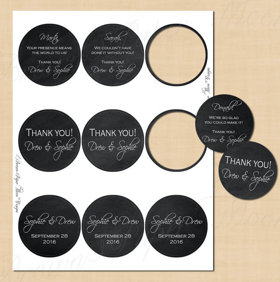 Chalkboard Round Labels (2 5