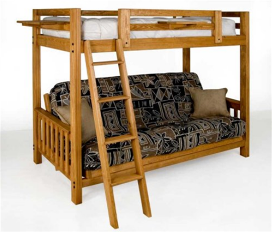 Twin Extra Long Over Queen Futon Bunk Bed