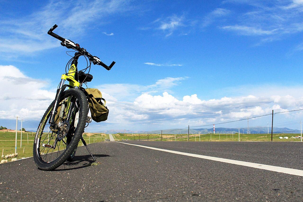 Travel Blue Sky Riding Highway Bike Road Travel Bluesky
