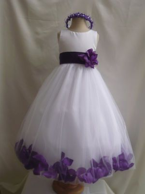White purple tulle flower girl dress children pageant dress size white purple tulle flower girl dress children pageant dress size s m 2 4 6 8 12 mightylinksfo