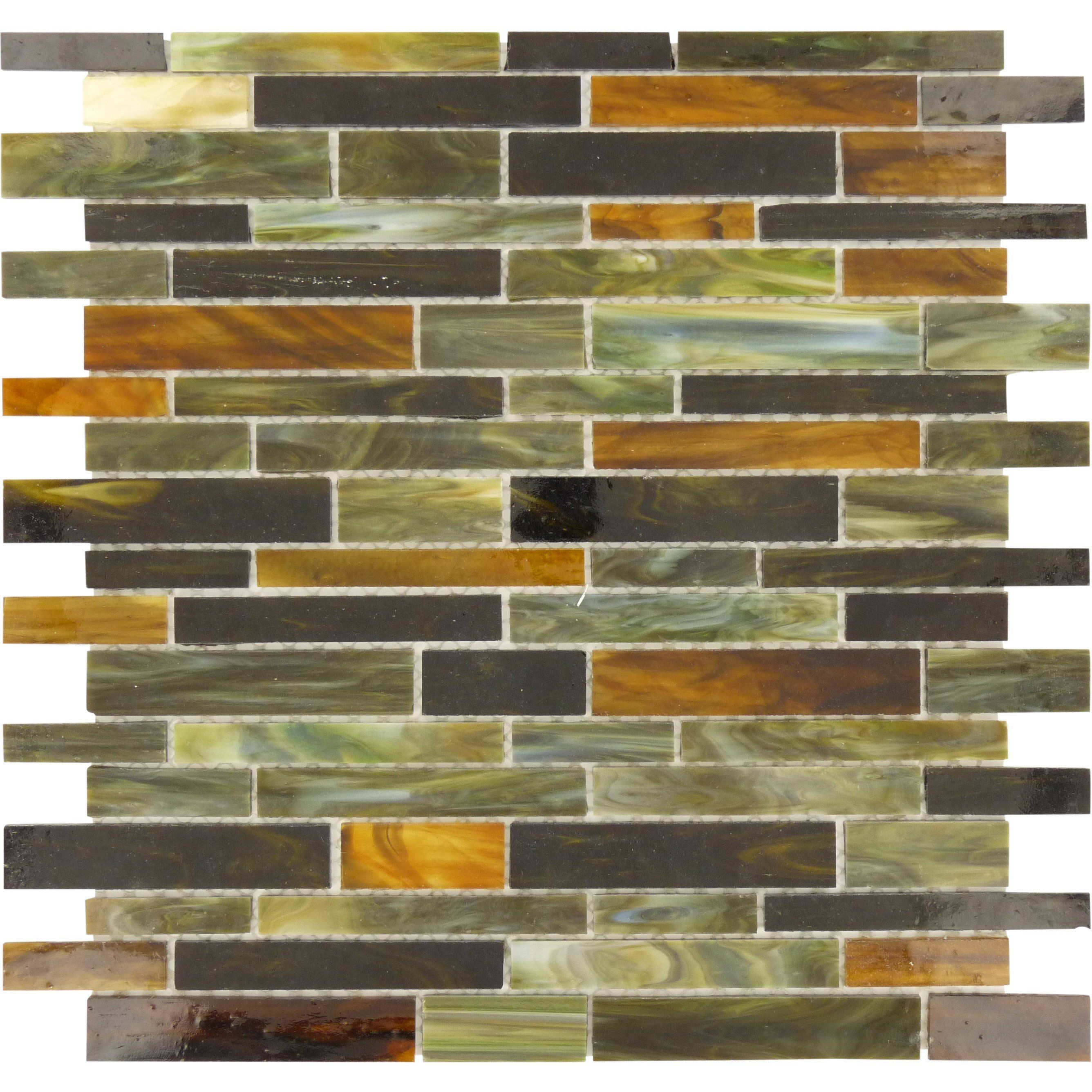 "Sheet Size: 12 1/4"" X 13"" Tile Size: Random Bricks Tile"
