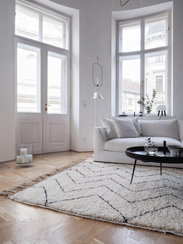 mein neuer original beni ourain teppich von touda aus marokko shop the look pinterest. Black Bedroom Furniture Sets. Home Design Ideas