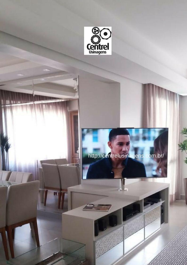 Suporte Giratório TV - Modelo Fixado Móvel / Rack
