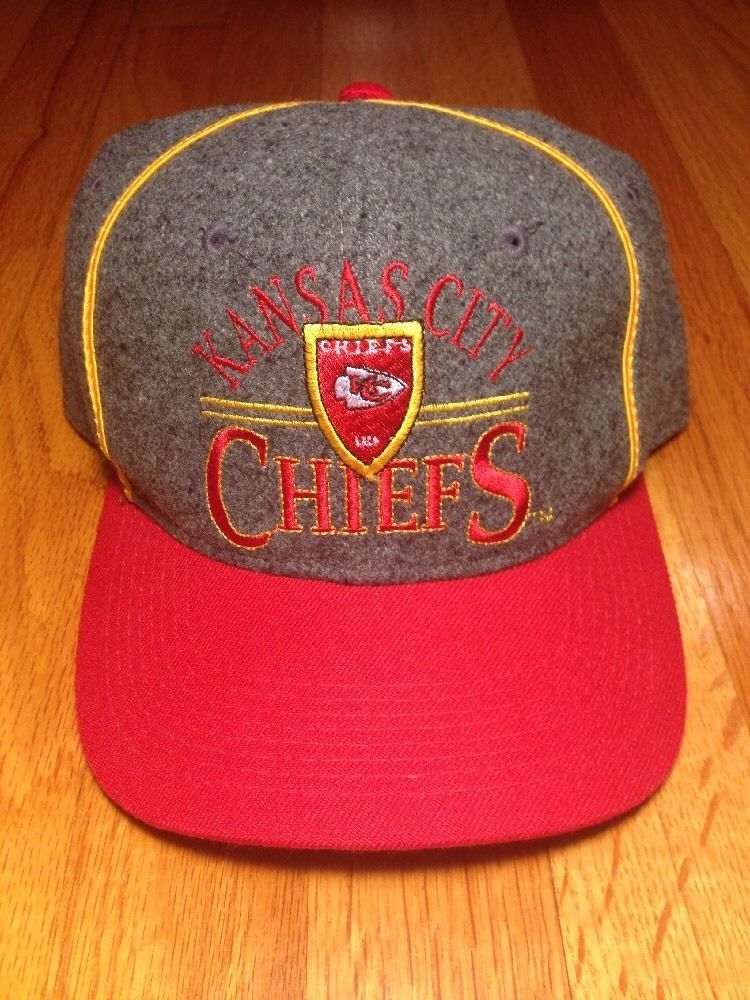 88867a443189a5 Rare Vintage Kansas City Chiefs Melton Wool Snapback Hat Cap NFL The Game  #TheGame