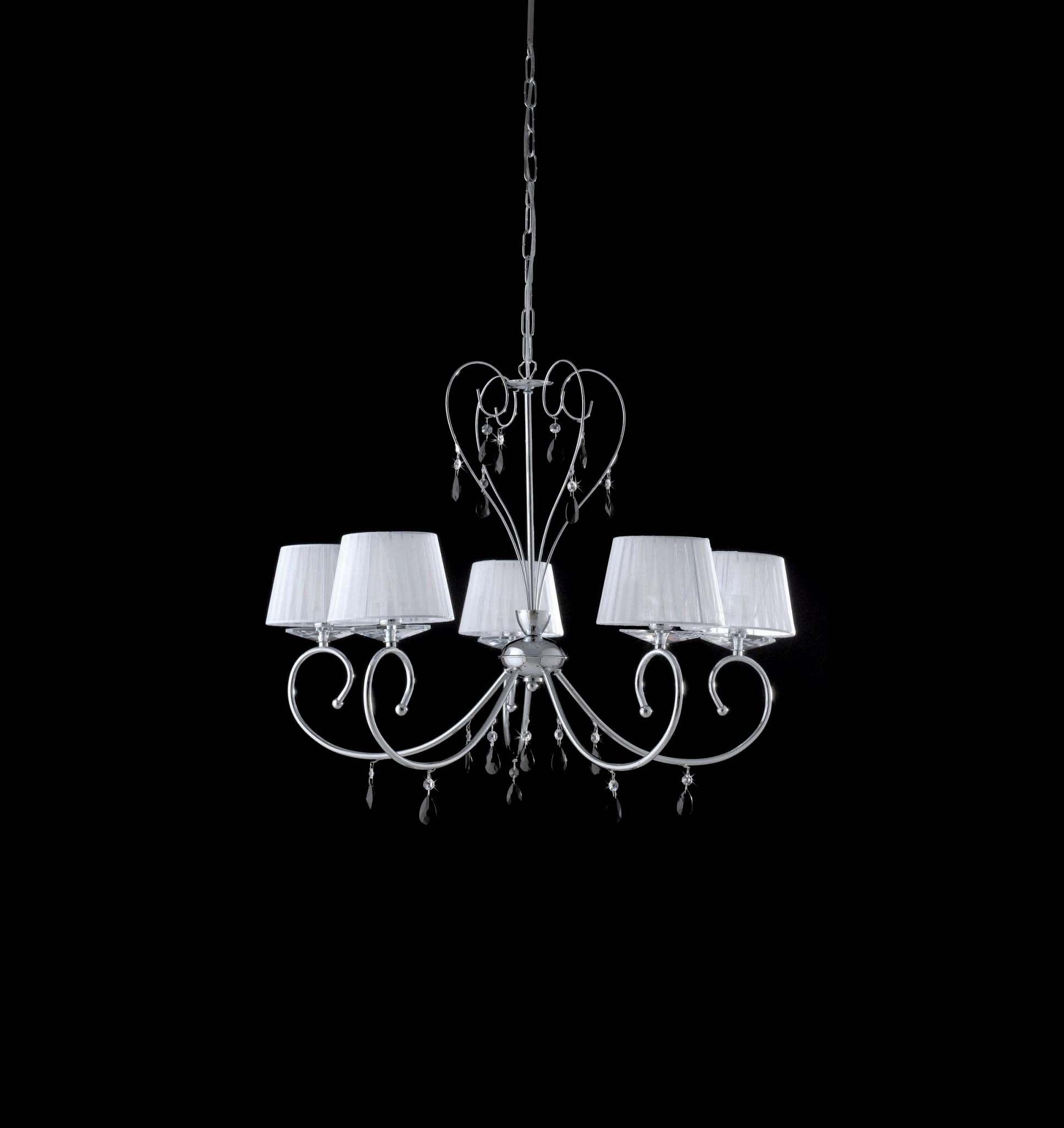 Lampadario moderno con cristalli neri 5 luci LGT Vegas sp5
