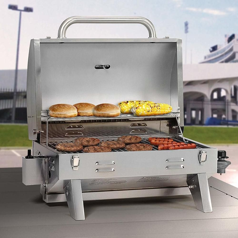 Table Top Grill Stainless Steel Propane Gas Tailgating Outdoor Cooking Barbecue Smokehollow Tailgate Grilling Propane Grill Propane Gas Grill