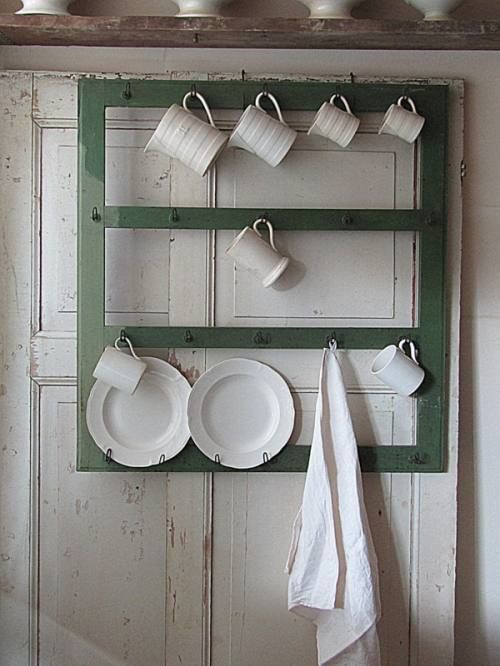 Window as plate and cup rack on a door & Window as plate and cup rack on a door | Kitchen and dining room ...