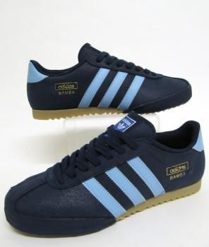 Adidas Bamba Trainers in Navy Blue