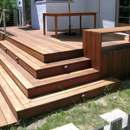 Deck Stairs Design Ideas, Pictures, Remodel, and Decor | Stairs ...