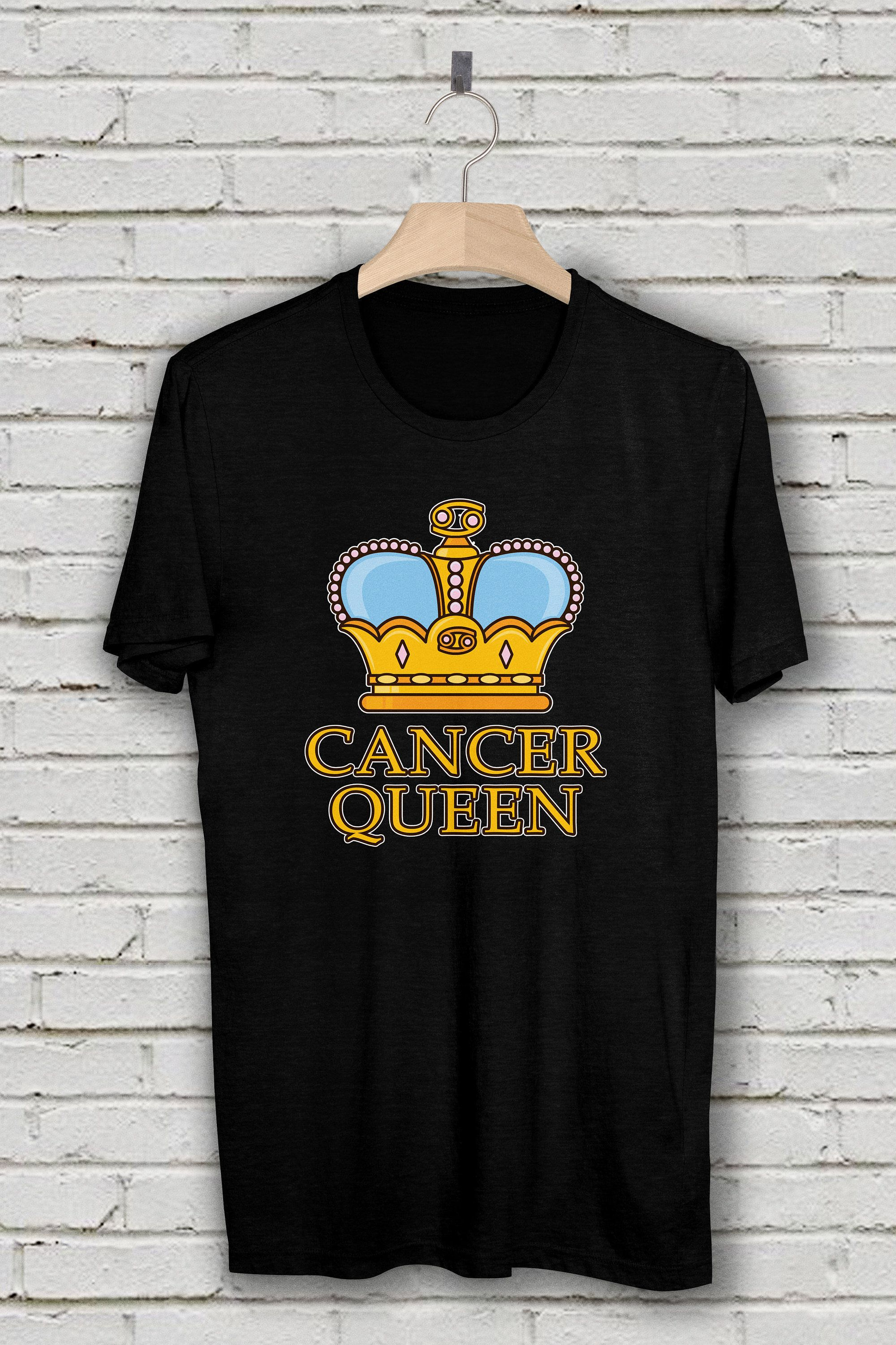 Cancer Queen Birthday T Shirt Star Sign Gift Born In June July Zodiac Gifts