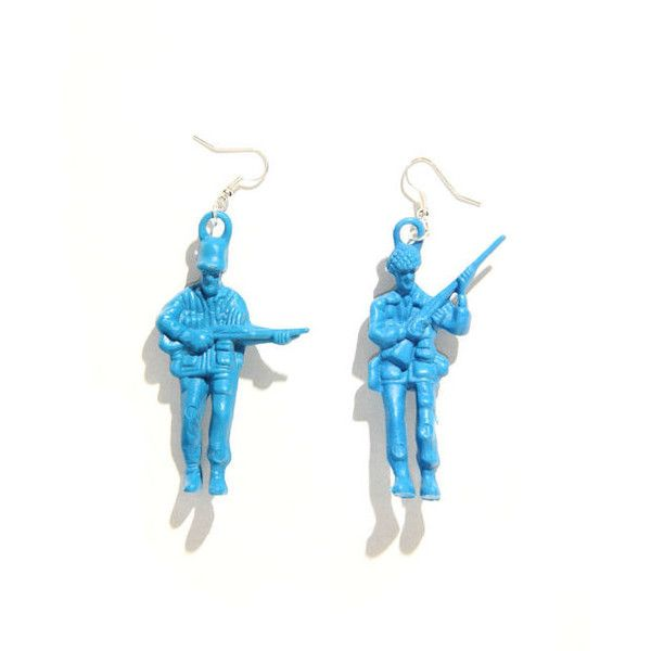 BLUE TOY SOLIDER EARRINGS (€2,25) ❤ liked on Polyvore featuring jewelry, earrings, accessories, blue earrings, fish hook jewelry, fish hook earrings, blue jewelry and earring jewelry
