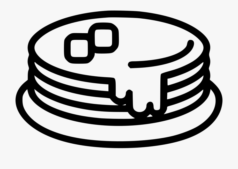 Download And Share Syrup Pancakes Svg Png Icon Free Download Pancake Black And White Clipart Cartoon Seach More Similar Free Transp Png Icons Clip Art Icon