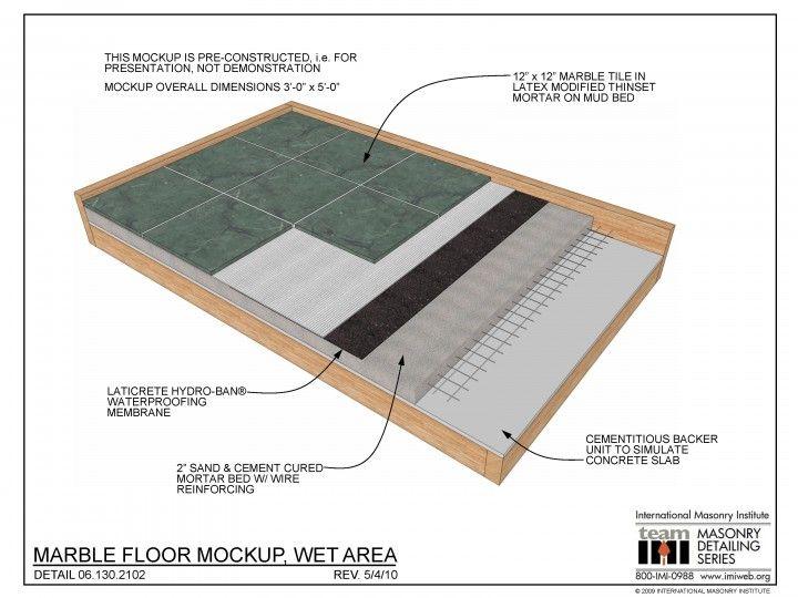 06 130 2102 Marble Floor Flooring Membrane Roof