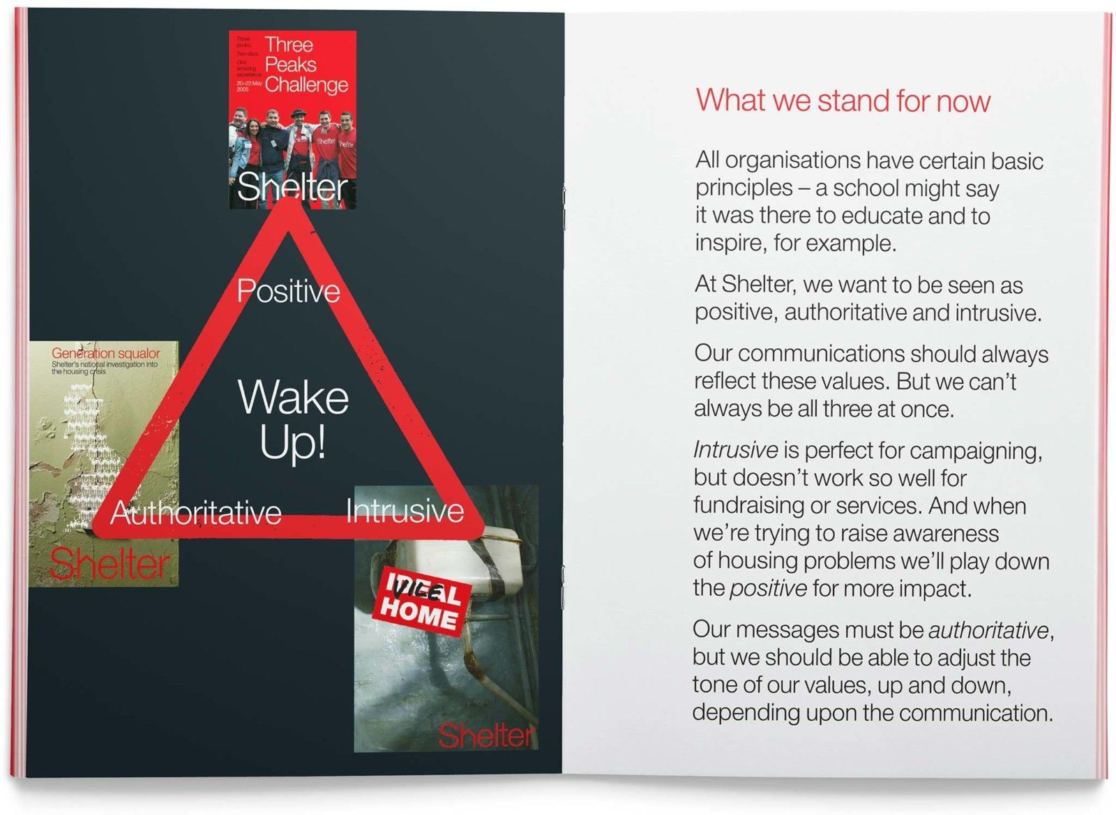 Shelter Booklet Spread1 | Shelter | Johnson Banks