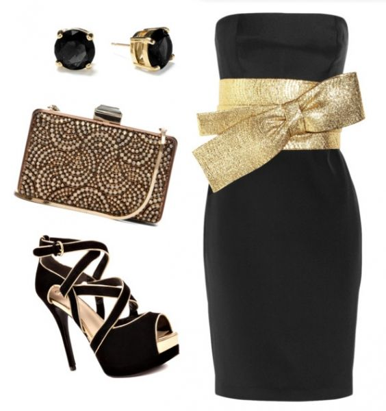 Black dress for holiday party