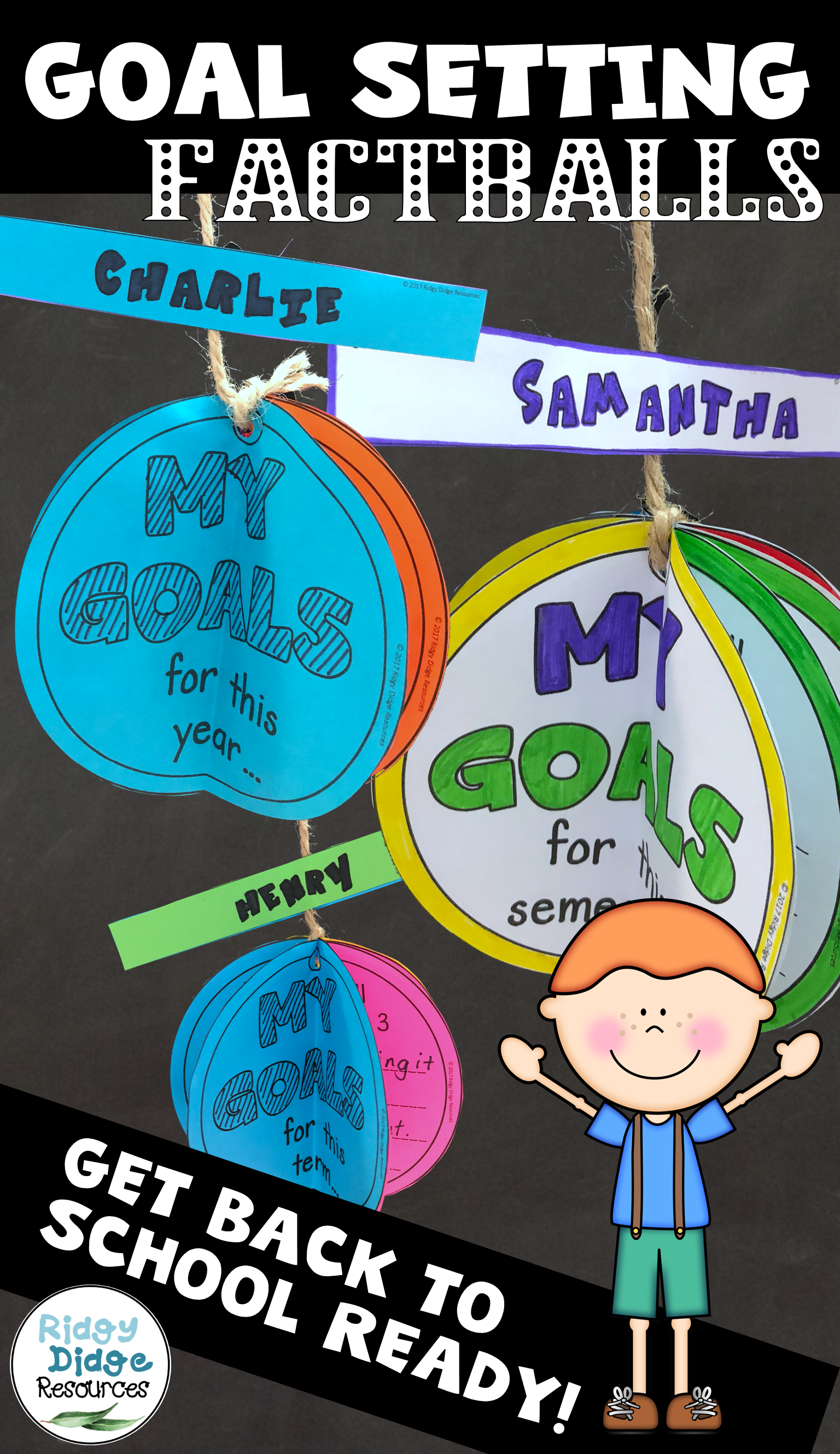 Back To School Editable Goal Setting Factballs