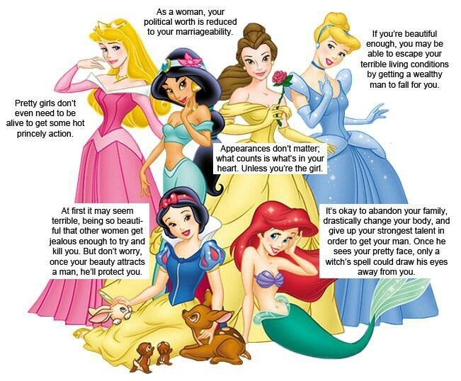 Message Disney is really sending? It's a fairytale; get over kt