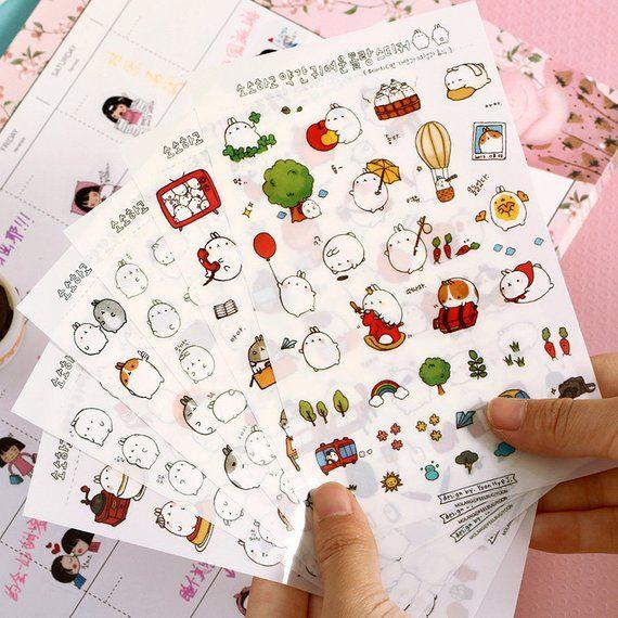 DIY Cartoon Kawaii Scrapbooking Album Diary Book Decal Craft Paper PVC Stickers