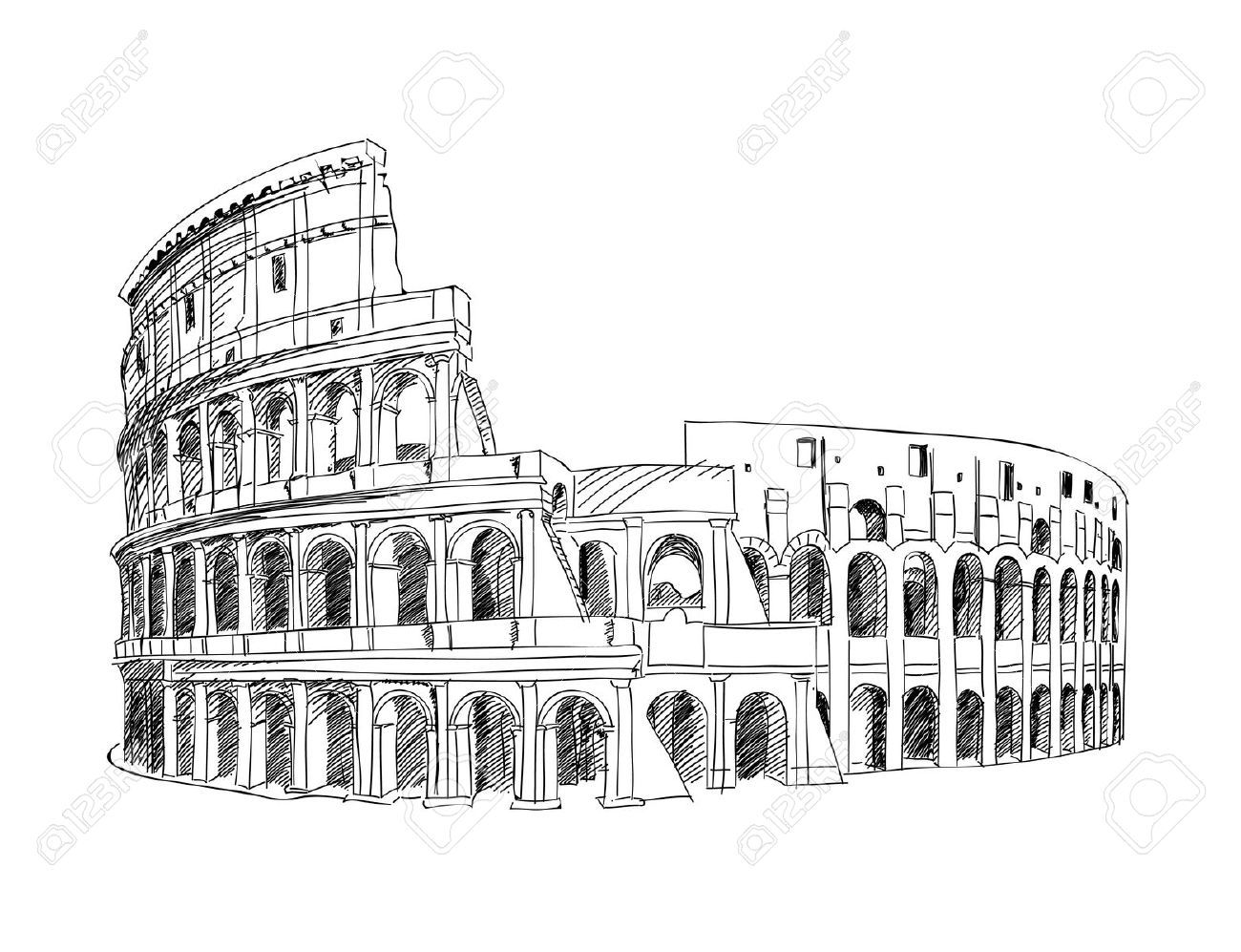 Colosseum Simple Coloring Pages