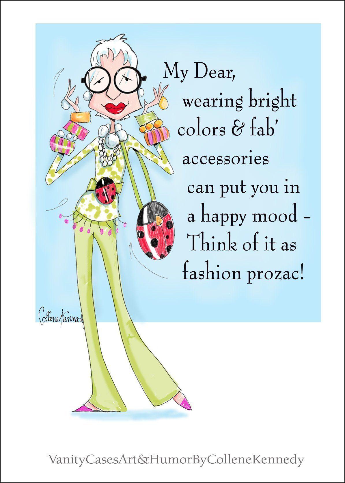 Iris Apfel Inspired Funny Fashion Birthday Card for Friend