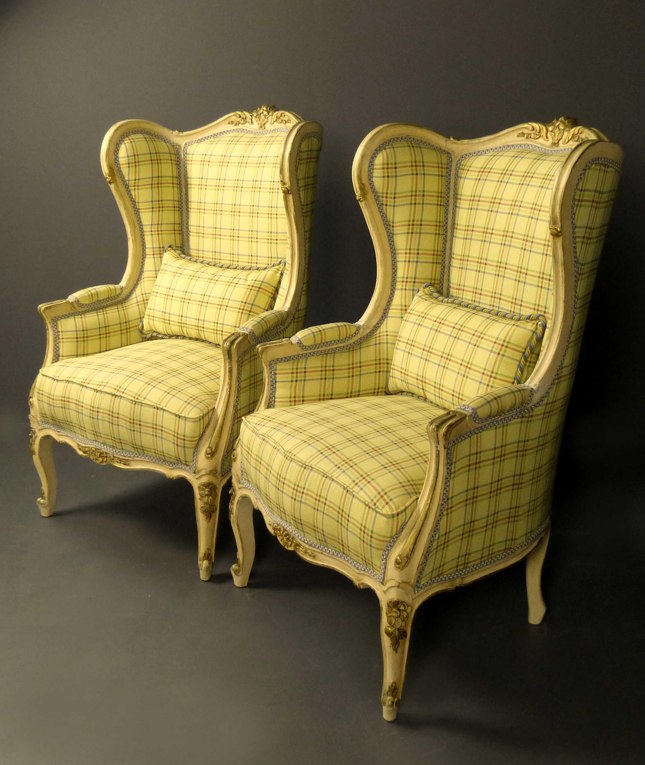 Orejeras de estilo barroco con influencia luis xv german wingchairs sold antig edades sillas - Sillas y sillones clasicos ...