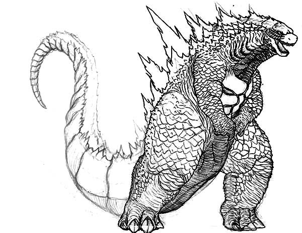 Pin On Lineart Godzilla