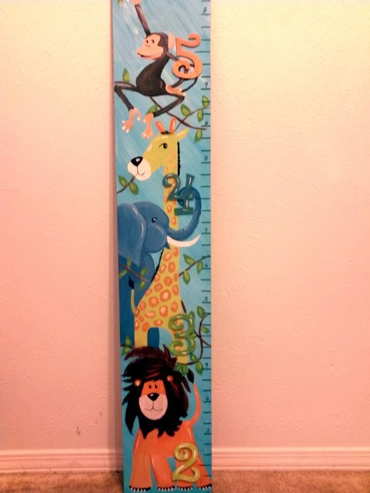 Custom Jungle Growth Chart All Growth Charts Are Hand Painted By