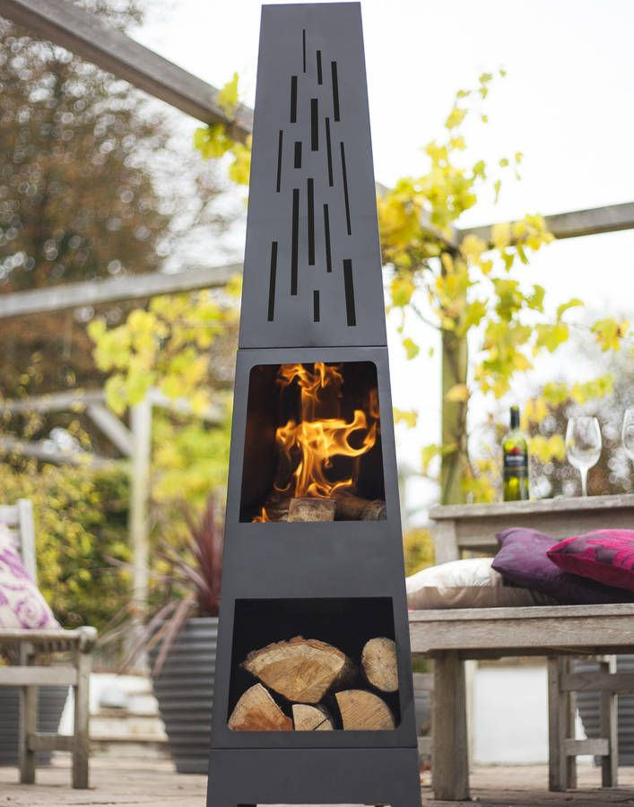 Oxford Chiminea Patio Heater And Log Store in 2020 | Patio ...