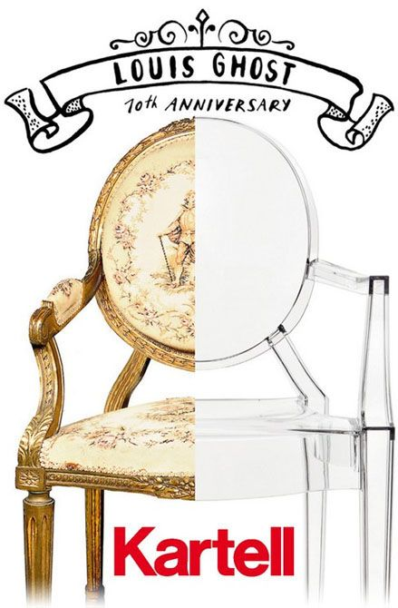 the phillip starck louis ghost chair available at hip