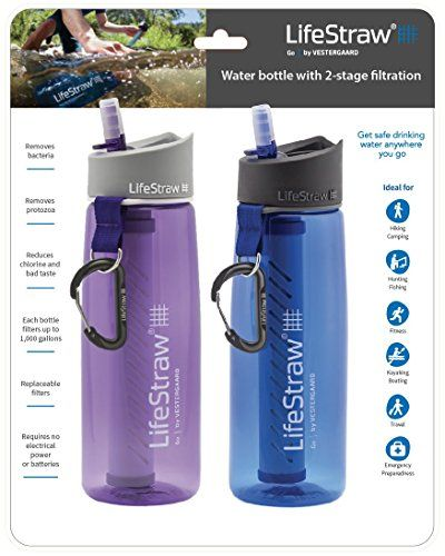 LifeStraw Go Water Filter Bottles with 2-Stage Integrated...