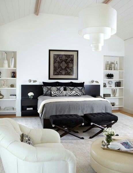 Bedroom Showcase Designs Pleasing Black And White Bedroom  Bedrooms  Pinterest  Bedrooms Bedroom Design Decoration