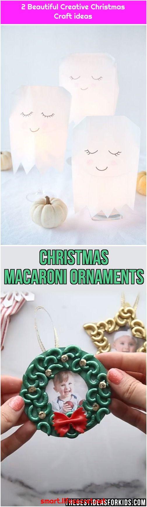2 Beautiful Creative Christmas Craft ideas #geisterbasteln