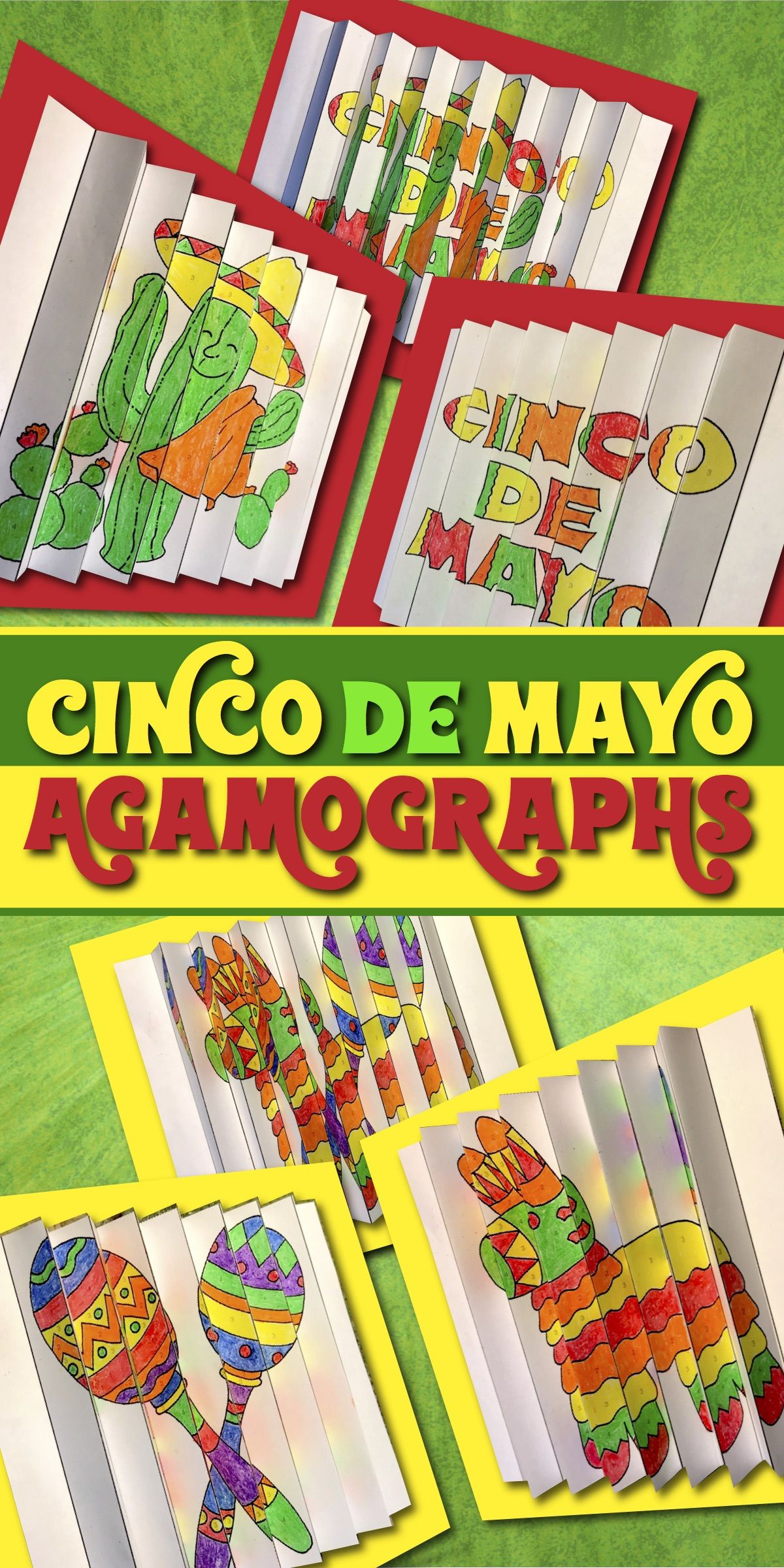 Cinco De Mayo Activities And Crafts Three Color By Number
