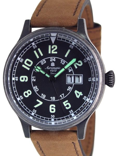 Aeromatic A1254B quartz Aviator Watch
