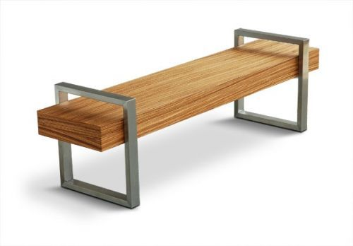 Gus Modern Return Bench in Zebrano - could do something like this ...