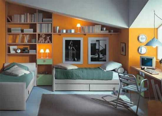 Modern kids room design ideas show well expressed teenage for 2 bed bedroom ideas