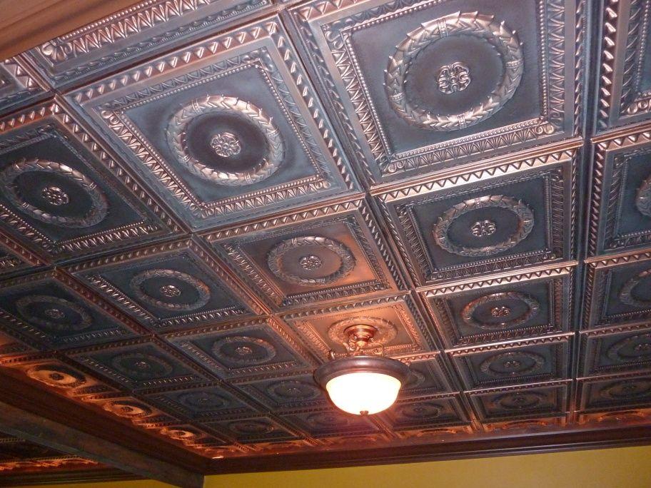 Man Cave Antique Ceiling Tiles