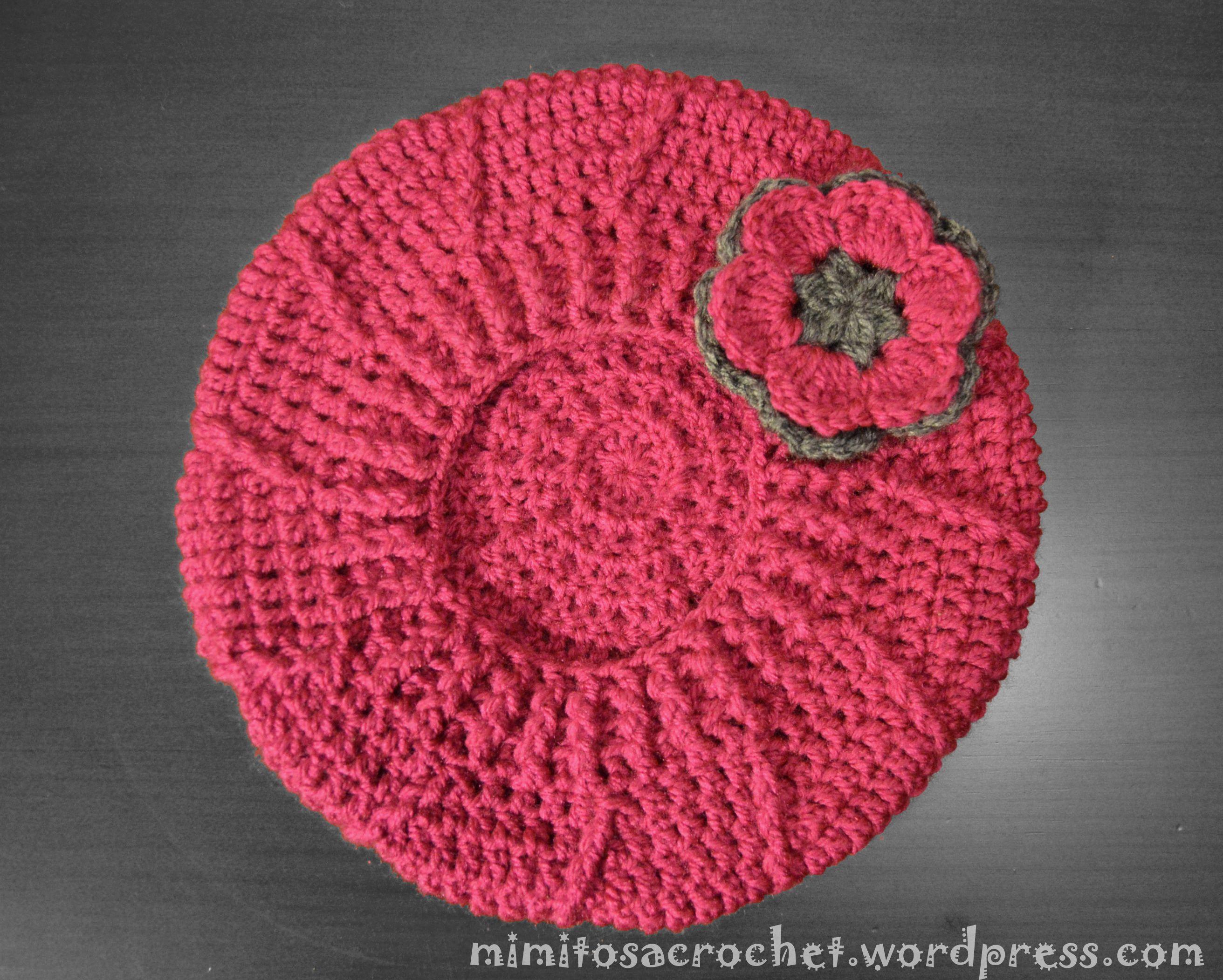 Boina de relieves a crochet   Mimitos a Crochet   Gorro   Pinterest