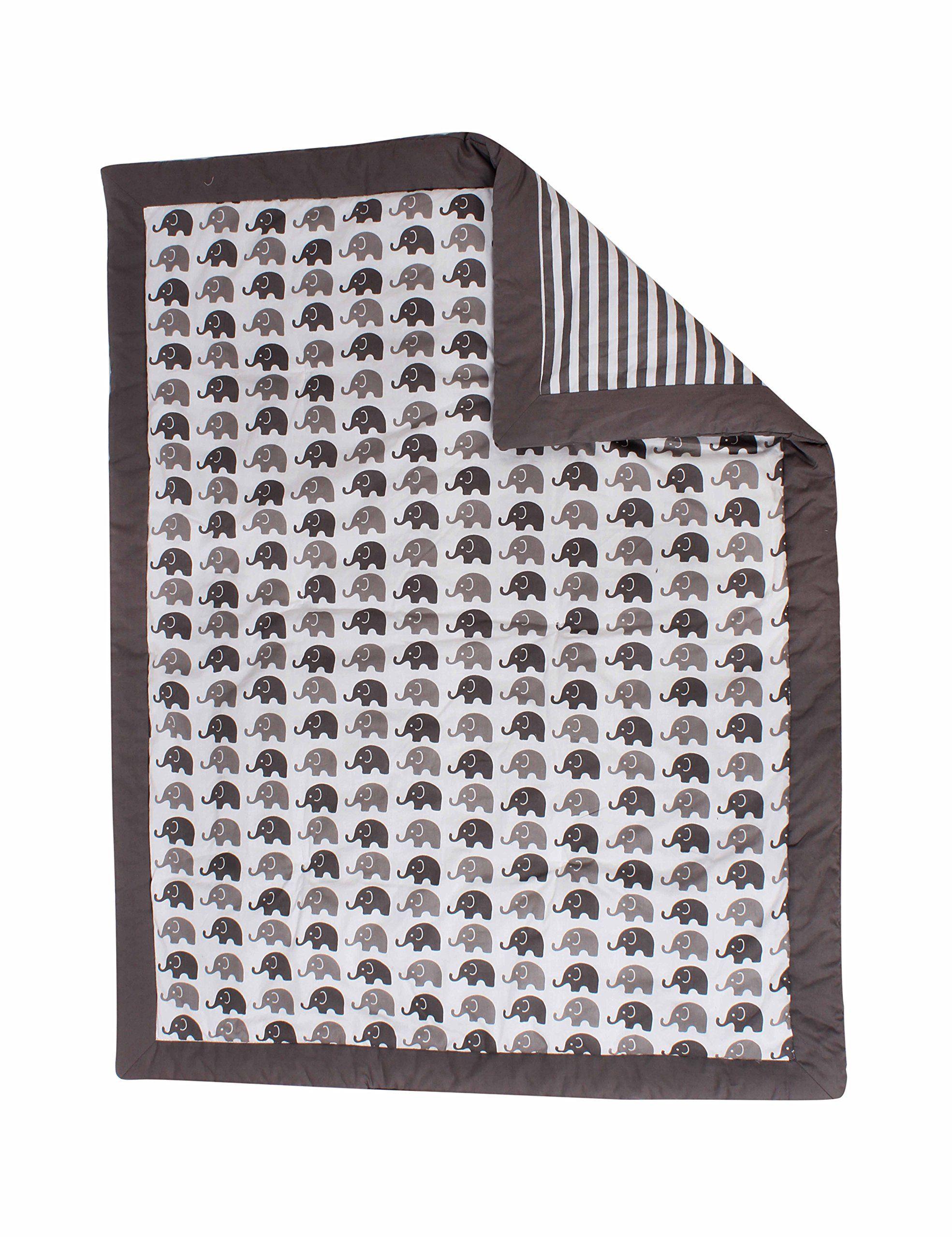 Bacati Elephants Unisex 10 Piece Nurseryinabag Crib Bedding