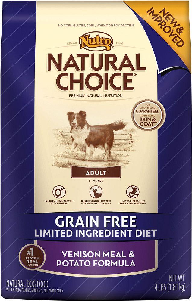 Nutro Natural Choice Grain Free Adult Venison Potato Formula Dry