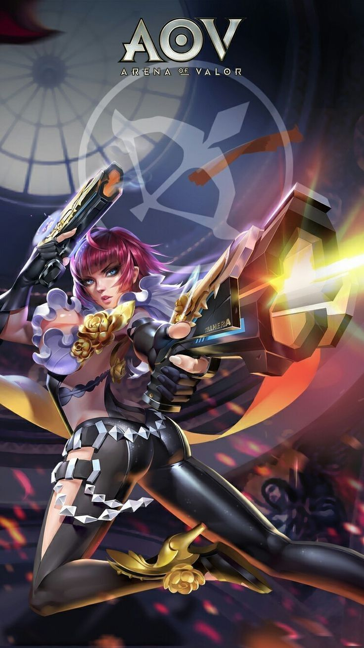 Violet Sharpshooter Skin Aov Arena Of Valor Wallpapers Pinterest Mobile Legends Gaming Wallpapers And Art