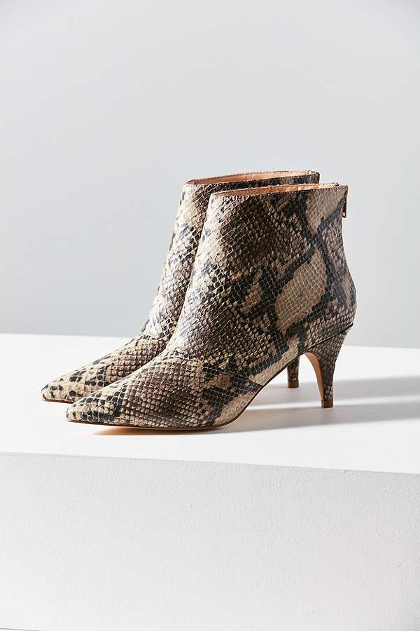 671c509601b Snakeskin Kitten Heel Ankle Boot | Fashion Fun | Kitten heel ankle ...