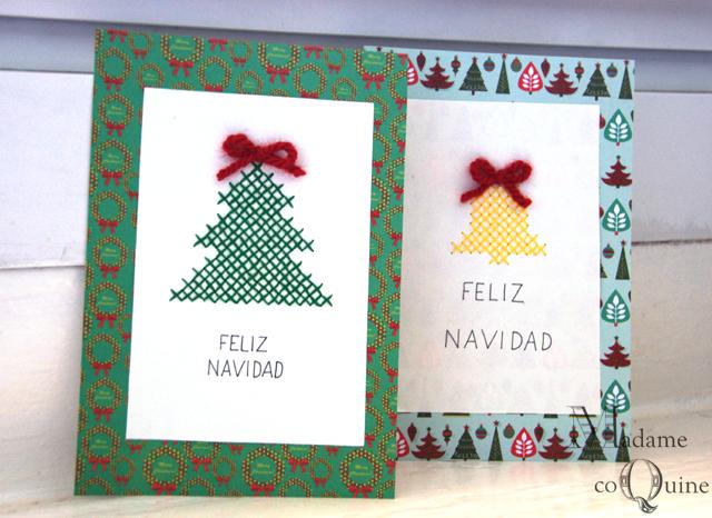 Como hacer tarjetas de navidad en cartulina