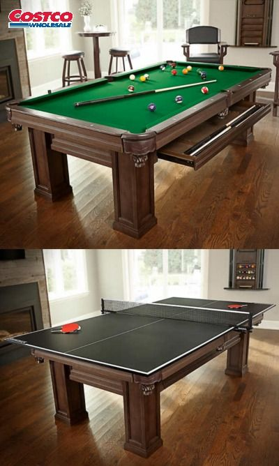 This Distinct Table Comes In A Rich Espresso Finish And Features 1 In Certified Premium Slate Solid Wood Rails Game Room Basement Pool Table Room Billiards
